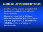 kliinilise uuringu definitsioon