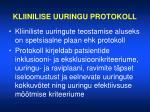 kliinilise uuringu protokoll