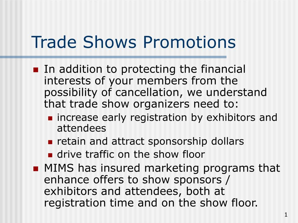trade shows promotions l.