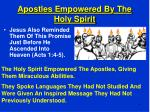 apostles empowered by the holy spirit