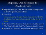 baptism our response to obedient faith
