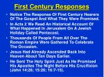 first century responses