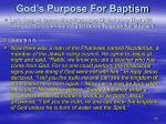 god s purpose for baptism
