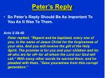peter s reply