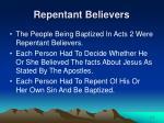 repentant believers
