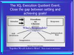 the xq execution quotient event close the gap between setting and achieving goals