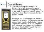 game rules