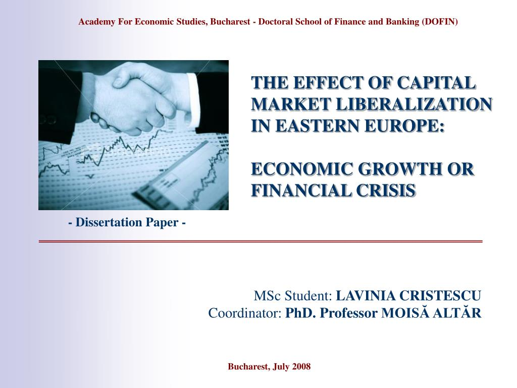 the effect of capital market liberalization in eastern europe economic growth or financial crisis l.