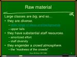 raw material