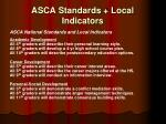 asca standards local indicators