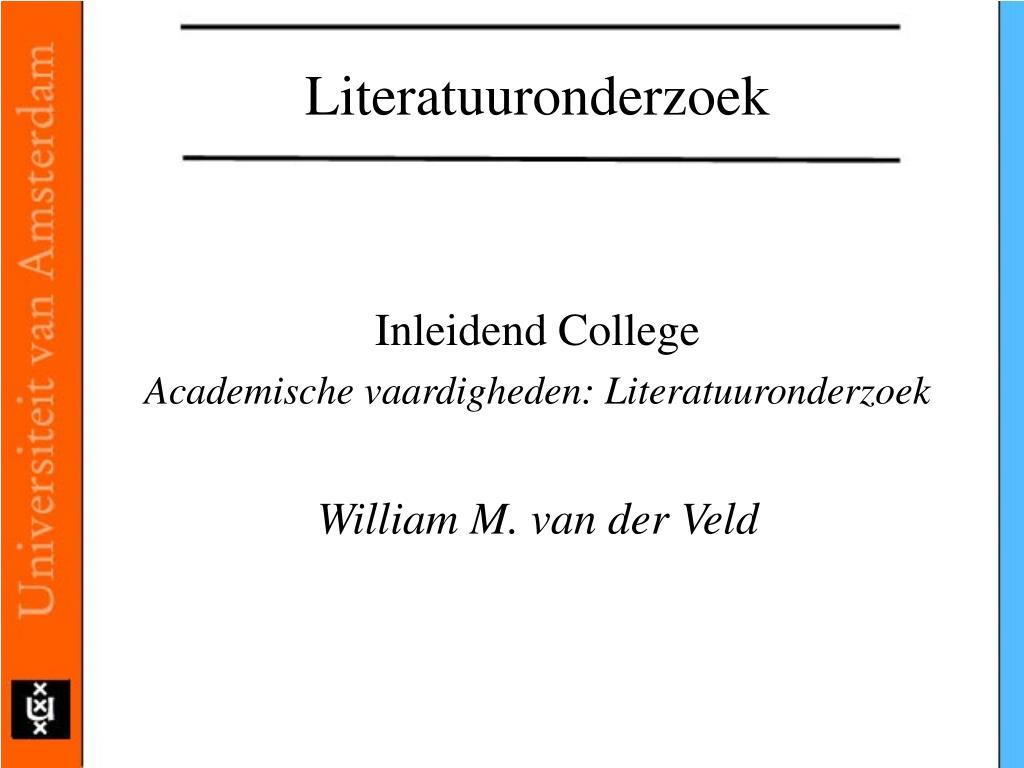 literatuuronderzoek l.