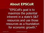 about epscor