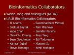 bioinformatics collaborators