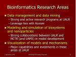 bioinformatics research areas