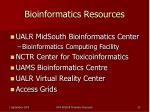 bioinformatics resources