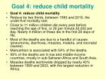 goal 4 reduce child mortality