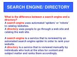 search engine directory