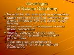 advantages of biplanar osteotomy