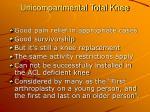 unicompartmental total knee