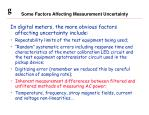 some factors affecting measurement uncertainty10