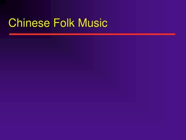 Chinese folk music