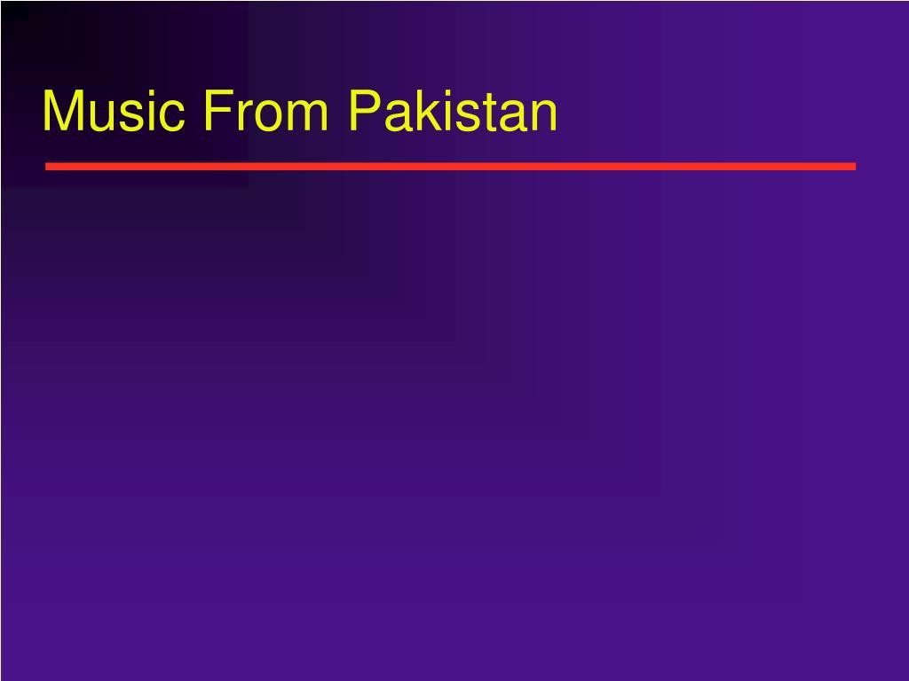 Music From Pakistan