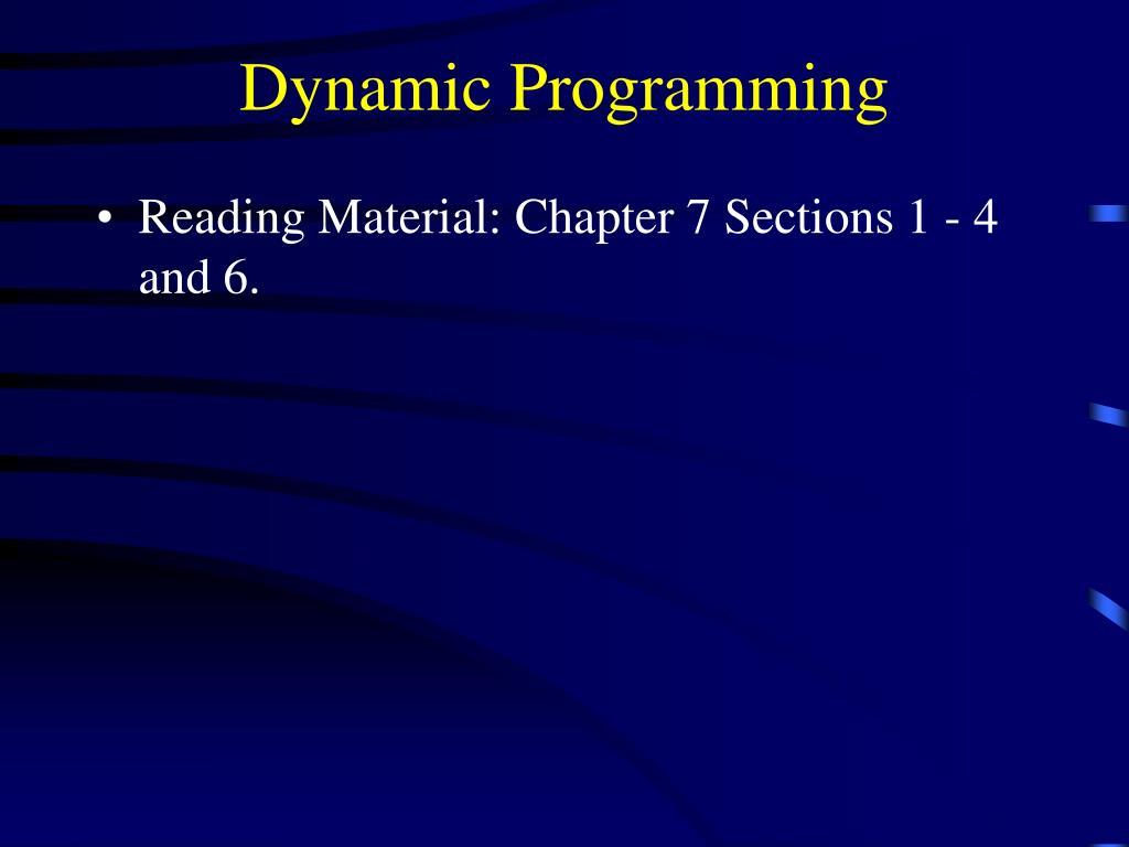 dynamic programming l.