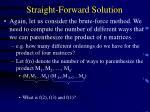 straight forward solution15