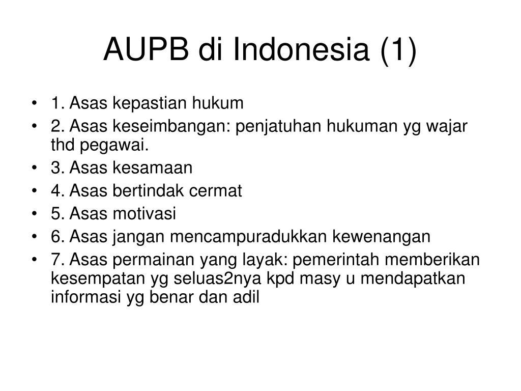 AUPB di Indonesia (1)