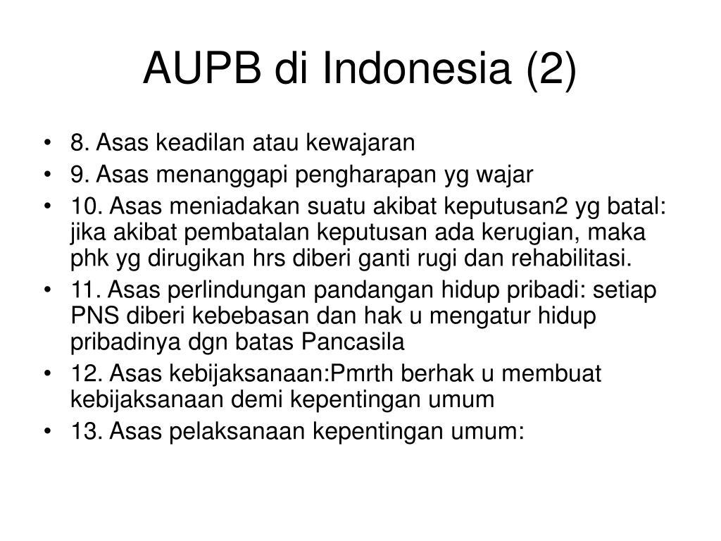 AUPB di Indonesia (2)