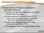 windows powershell grundlagen