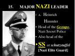 15 major nazi leader