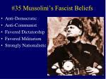 35 mussolini s fascist beliefs
