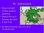 6 sudetenland