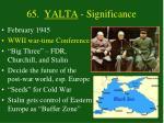 65 yalta significance