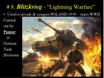 8 blitzkrieg lightning warfare