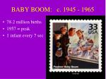 baby boom c 1945 1965