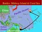 battles midway island coral sea