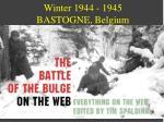 winter 1944 1945 bastogne belgium