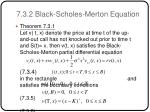7 3 2 black scholes merton equation