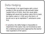 delta hedging