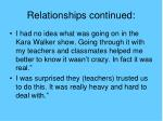 relationships continued