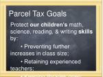parcel tax goals