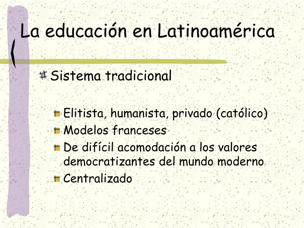 la educaci n en latinoam rica l.