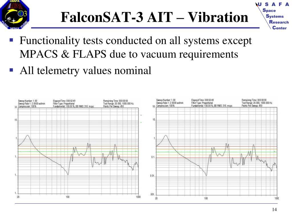 FalconSAT-3 AIT – Vibration