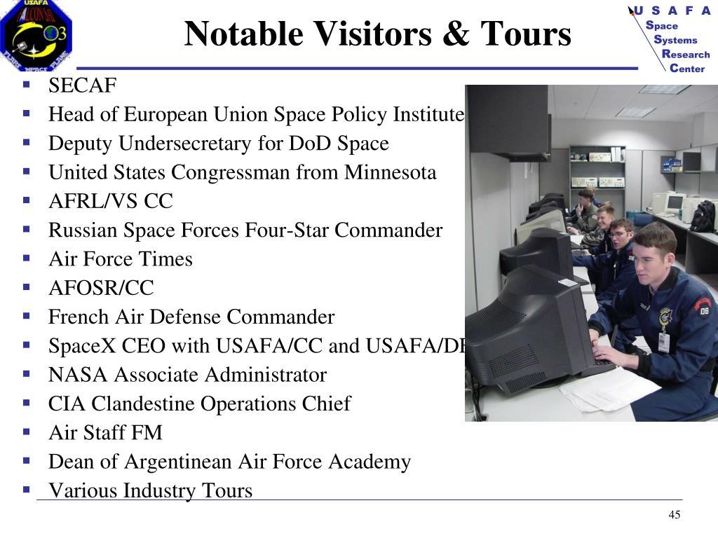 Notable Visitors & Tours