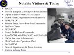 notable visitors tours