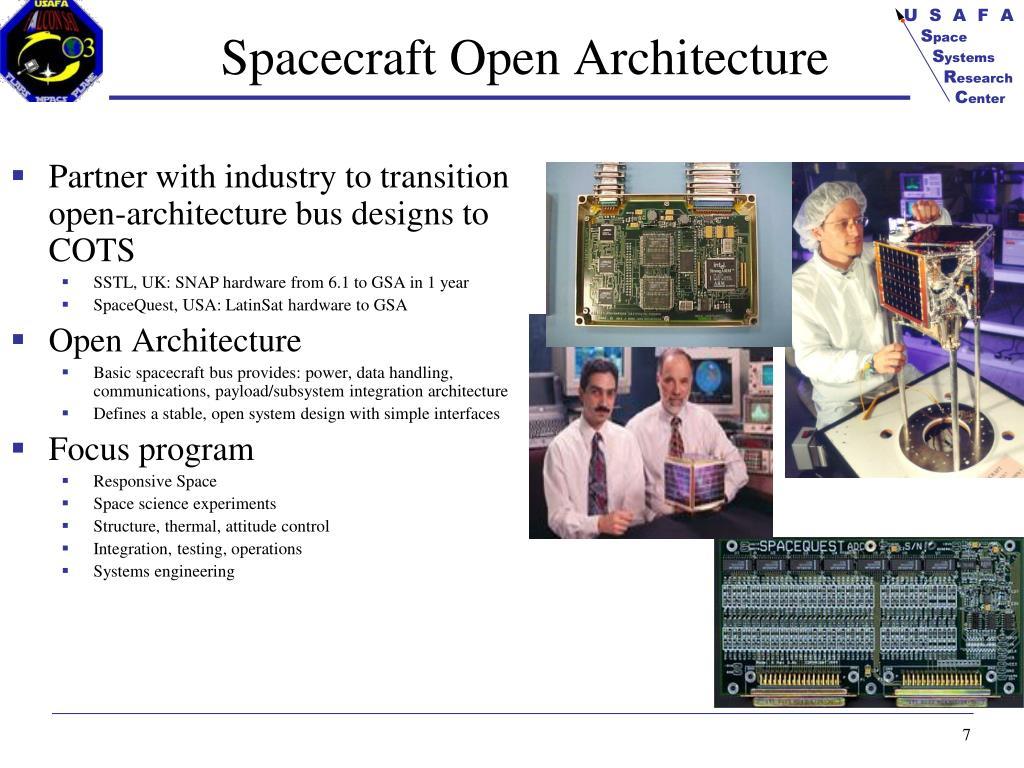 Spacecraft Open Architecture