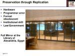 preservation through replication