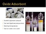 oxide adsorbent
